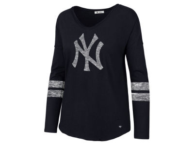 New York Yankees '47 MLB Women's Court Side Long Sleeve T-Shirt