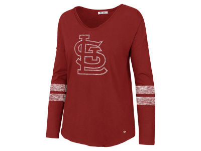 St. Louis Cardinals '47 MLB Women's Court Side Long Sleeve T-Shirt