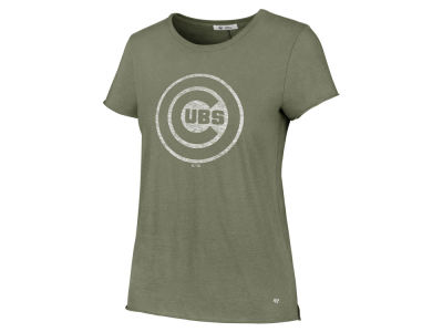Chicago Cubs '47 MLB Women's Olive Fader T-Shirt