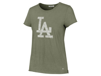 Los Angeles Dodgers '47 MLB Women's Olive Fader T-Shirt