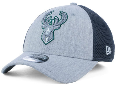 Milwaukee Bucks New Era NBA Heathered Neo Pop 39THIRTY Cap