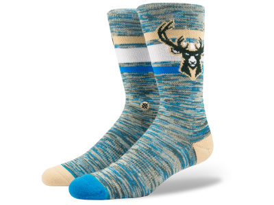 Milwaukee Bucks Stance NBA Arena Free Melange Crew Socks