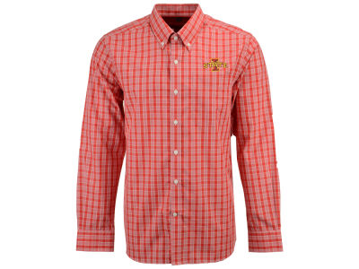 Iowa State Cyclones Cutter & Buck NCAA Men's Discovery Park Plaid Button Down
