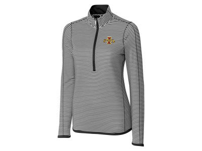 Iowa State Cyclones Cutter & Buck NCAA Women's Drytec Trevor Stripe Quarter Zip Pullover