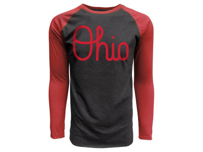 J America NCAA Men's Script Ohio Tri-blend Raglan T-Shirt