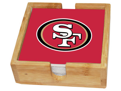 San Francisco 49ers Memory Company 4-pack Square Coaster w/ Caddy