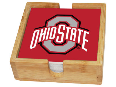 Ohio State Buckeyes Memory Company 4-pack Square Coaster w/ Caddy