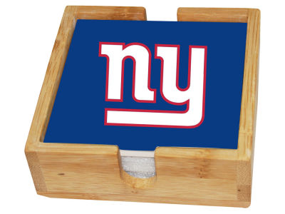 New York Giants Memory Company 4-pack Square Coaster w/ Caddy