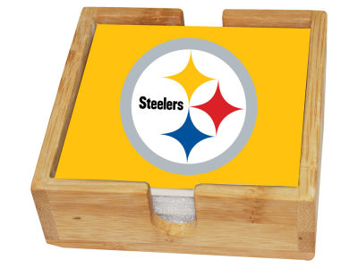 Pittsburgh Steelers Memory Company 4-pack Square Coaster w/ Caddy