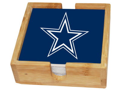 Dallas Cowboys Memory Company 4-pack Square Coaster w/ Caddy
