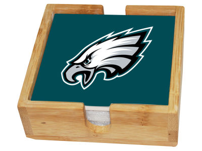 Philadelphia Eagles Memory Company 4-pack Square Coaster w/ Caddy
