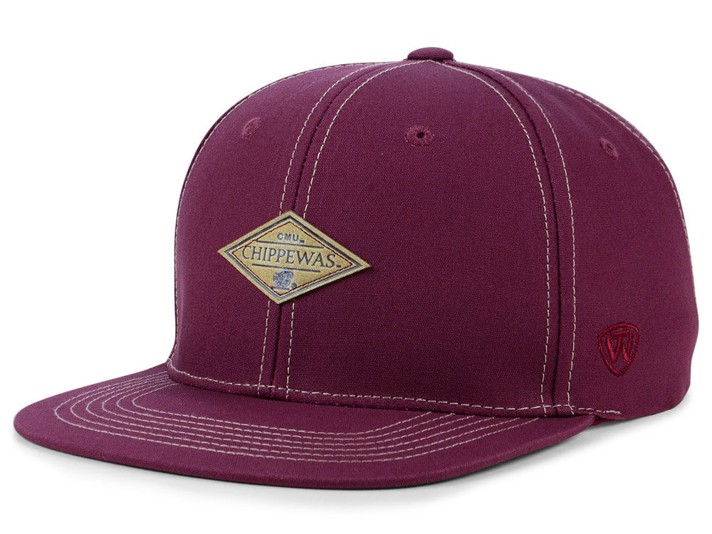 8691a34c601 ... flat bill snapback baseball cap hat cheapest central michigan chippewas  top of the world ncaa diamonds snapback cap f5a40 d5d1b ...