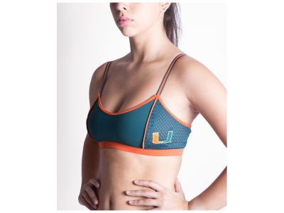 Miami Hurricanes NCAA Women's Sporty Bralette