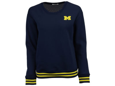Michigan Wolverines nuyu NCAA Women's Mesh Back Sweatshirt