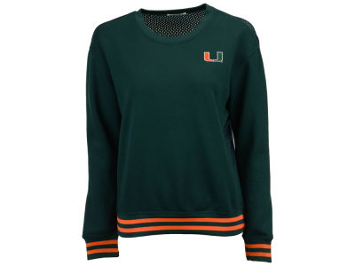 Miami Hurricanes nuyu NCAA Women's Mesh Back Sweatshirt