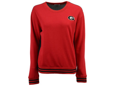 Georgia Bulldogs nuyu NCAA Women's Mesh Back Sweatshirt
