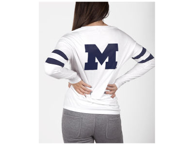 Michigan Wolverines nuyu NCAA Women's Long Sleeve Crew Sweatshirt