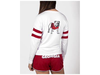 Georgia Bulldogs nuyu NCAA Women's Long Sleeve Crew Sweatshirt