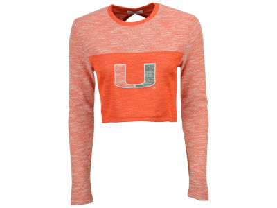 Miami Hurricanes nuyu NCAA Women's Terry Crop Top