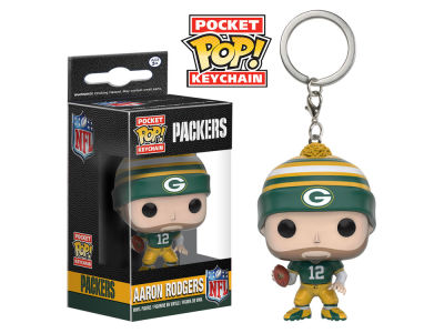 Green Bay Packers Aaron Rodgers POP! Vinyl Keychain Wave Toy