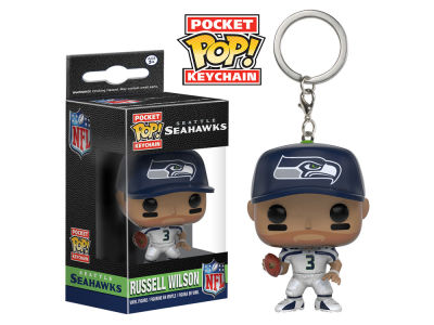 Seattle Seahawks Russell Wilson POP! Vinyl Keychain Wave Toy