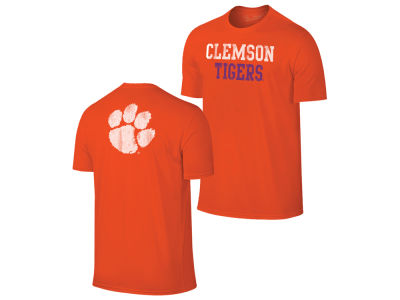 Clemson Tigers Retro Brand NCAA Men's Chalk Talk Dual Blend T-Shirt