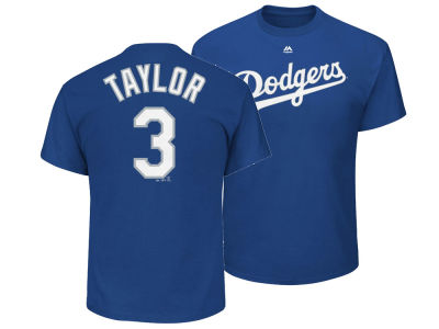 Los Angeles Dodgers Chris Taylor Majestic MLB Men's Official Player T-Shirt