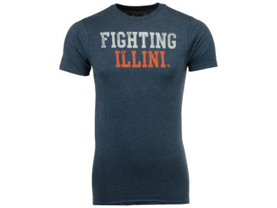 Illinois Fighting Illini Retro Brand NCAA Men's Chalk Talk Dual Blend T-Shirt