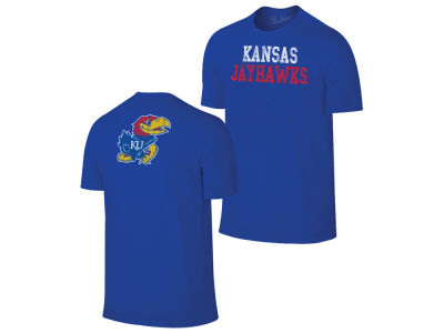 Kansas Jayhawks Retro Brand NCAA Men's Chalk Talk Dual Blend T-Shirt
