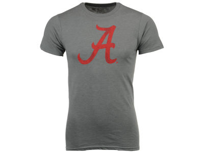 Alabama Crimson Tide Retro Brand NCAA Men's Big Logo Dual Blend T-Shirt