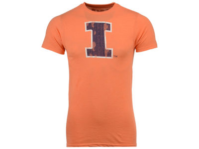 Illinois Fighting Illini Retro Brand NCAA Men's Big Logo Dual Blend T-Shirt