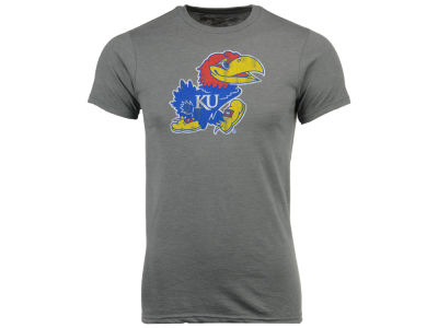 Kansas Jayhawks Retro Brand NCAA Men's Big Logo Dual Blend T-Shirt