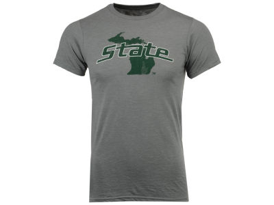 Michigan State Spartans Retro Brand NCAA Men's Big Logo Dual Blend T-Shirt