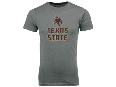 Texas State Bobcats Retro Brand NCAA Men's Big Logo Dual Blend T-Shirt