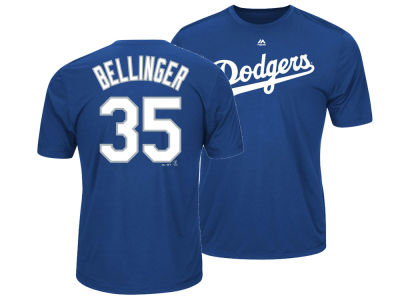 Los Angeles Dodgers Cody Bellinger Majestic MLB Men's Cool Base Name and Number T-Shirt