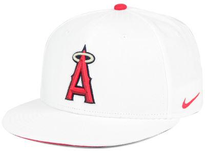 e8ad0151d0b Los Angeles Angels Nike MLB White Ripstop Snapback Cap