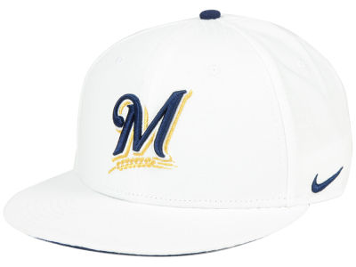 Milwaukee Brewers Nike MLB White Ripstop Snapback Cap