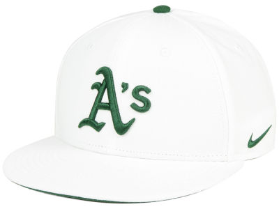 Oakland Athletics Nike MLB White Ripstop Snapback Cap