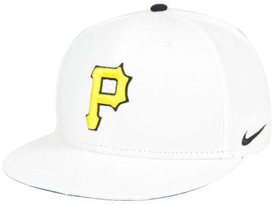 Pittsburgh Pirates Nike MLB White Ripstop Snapback Cap