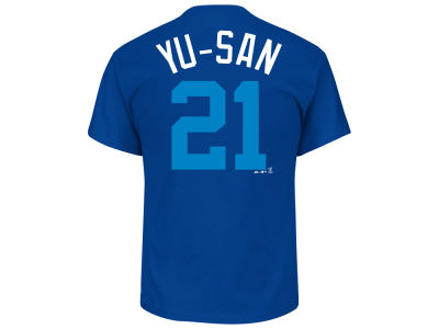 Los Angeles Dodgers Yu Darvish Majestic MLB Men's Players Weekend Name & Number T-Shirt
