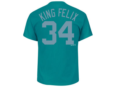Seattle Mariners Felix Hernandez Majestic MLB Men's Players Weekend Name & Number T-Shirt