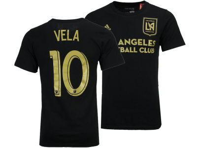 Los Angeles Football Club Carlos Vela adidas MLS Home Player T-Shirt