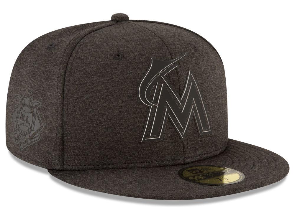 brand new 526e4 56eb3 ... order miami marlins new era 2018 mlb clubhouse 59fifty cap lids 1ca88  2ec6c