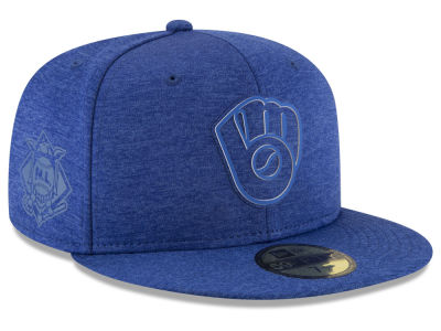 Milwaukee Brewers New Era 2018 MLB Clubhouse Kids 59FIFTY Cap