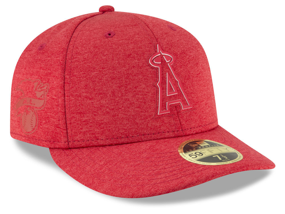 reputable site 9909e f80e3 ... denmark los angeles angels new era 2018 mlb clubhouse low crown 59fifty  cap a33e8 d6013