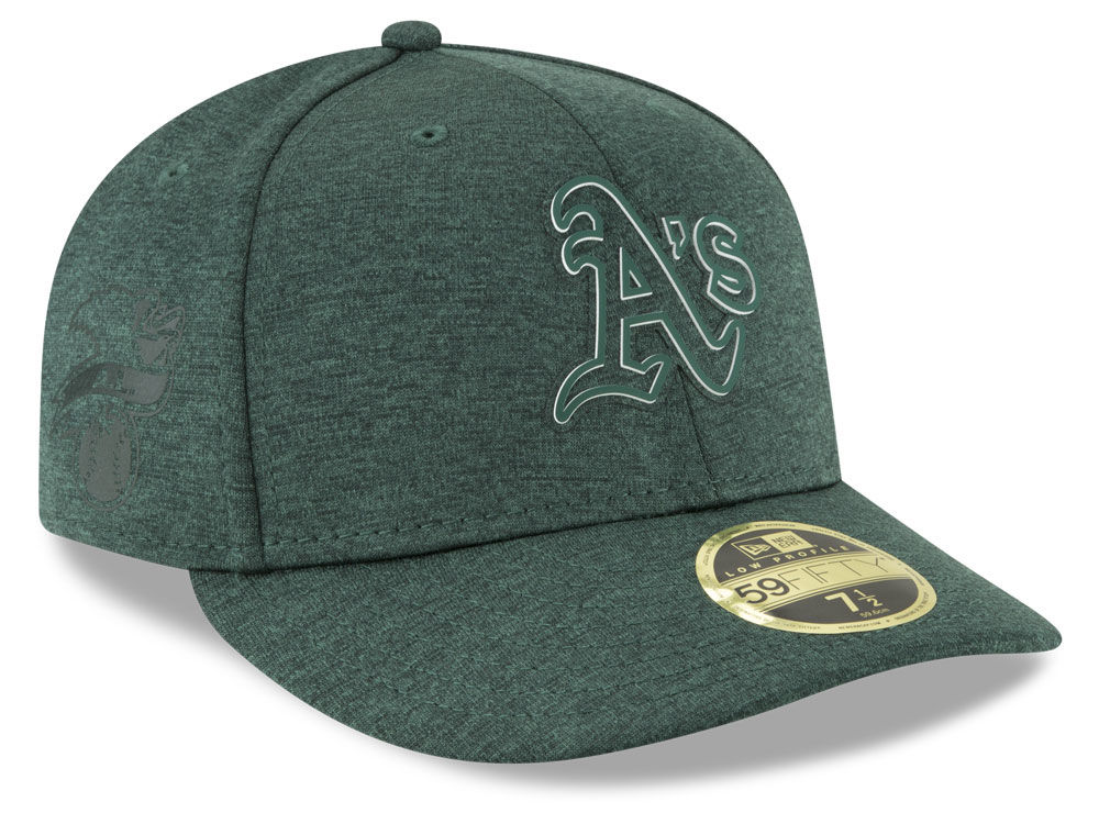 Oakland Athletics New Era 2018 MLB Clubhouse Low Crown 59FIFTY Cap ... 55d271ac5747