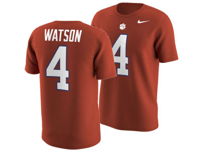 Clemson Tigers Deshaun Watson Nike NCAA Men's Name and Number T-shirt