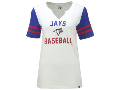 Toronto Blue Jays '47 MLB Women's All-City Sleeve Stripe T-Shirt