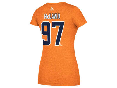 Edmonton Oilers Connor McDavid adidas 2017 NHL Women's Player T-Shirt