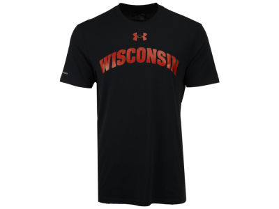 Wisconsin Badgers Under Armour NCAA Men's Lead Block Charged T-Shirt